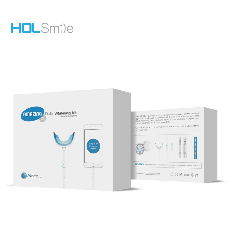 Phone smart 16PCS LED mini light teeth whitening kit