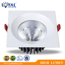 high lumen outdoor adjustable square recessed IP65 IP44 bridgelux cob 5w 10w 15w 20w 25w 30w 36w 40w 50w 60w led down light