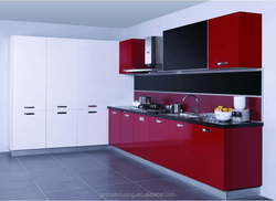 Customized furniture China manufacturer design fitted kitchen/hotel kitchen cabinet