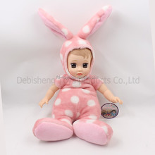 (YW-XR161208) Baby boy velveteen cute bunny long ear plush stuffed rabbit toy