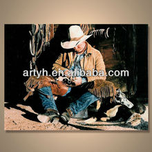 Popular handmade modern figure painting for wall decoration --- Cowboy