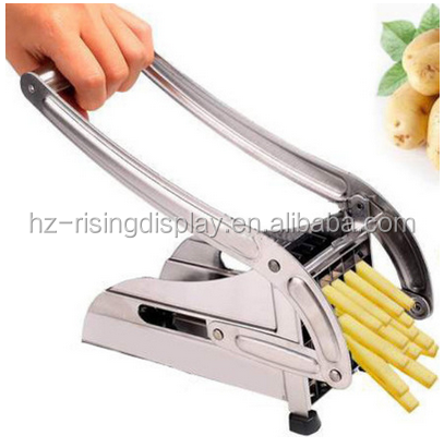 Durable Stainless Steel Kitchen Gadgets French Fry Cutter Potato Chipper Chip Slicer