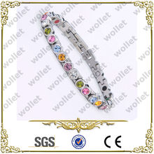 girls multi color crystal magnetic stainless steel bracelet walmart fashion jewelry