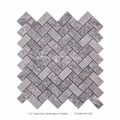 Century Mosaic Baikal Blue Herringbone Marble Mosaic For Your Bathroom