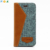 For iphone 7 leather and jean fabric 2 in 1 phone wallet case with card slot