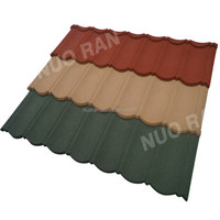 Color clay metal ridge roof tiles/stone coated steel roofing tile for house