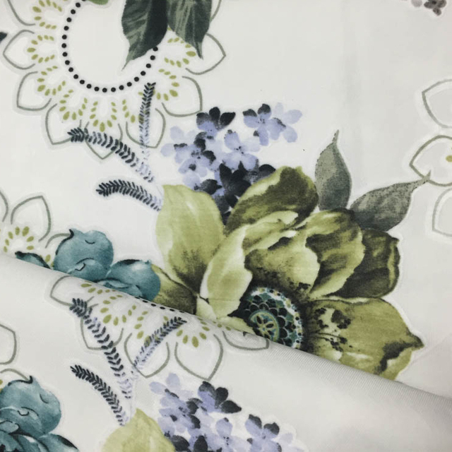 100% Polyester Simple But Elegant Style Printed Fabric for Bedding Sets