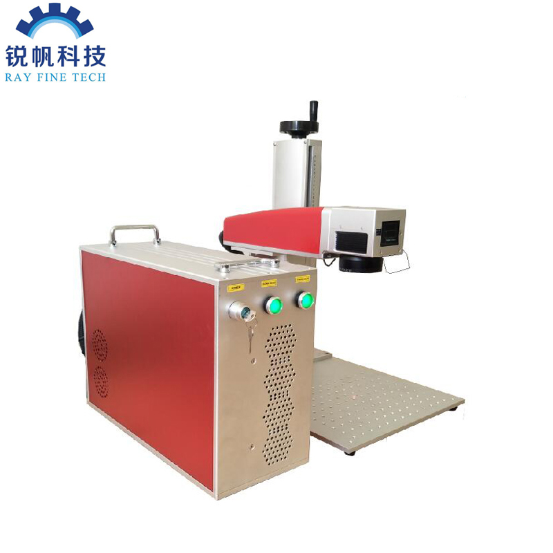 free shipping 20W rotary laser marking machine for metal and non metal marking in alibaba