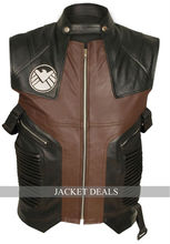 The Avengers Hawkeye Jeremy Renner Barton Perfect Cosplay Costume Leather Vest- All Sizes - XS S M L XL 2XL 3XL 4XL 5XL