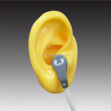 Factory supply yellow human ear mould silicone ear for display stand