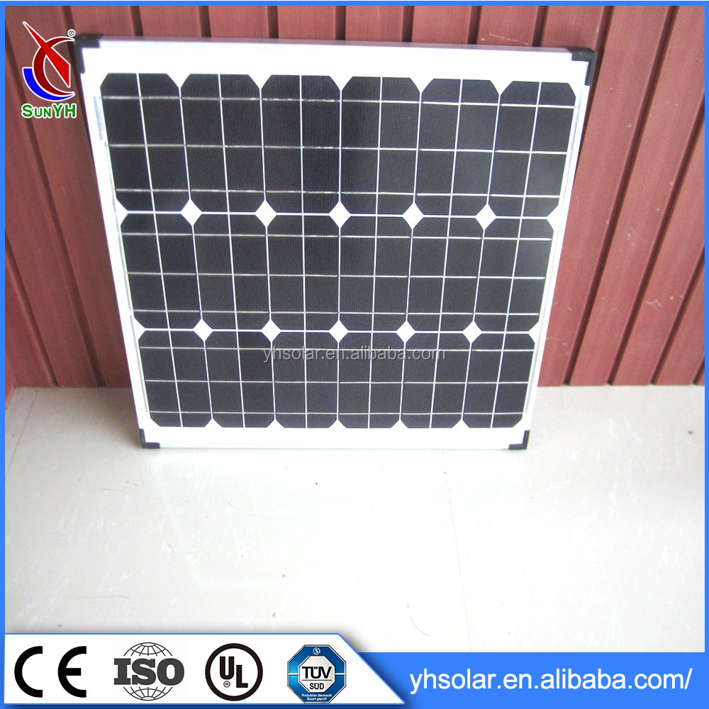 6 Inches Cell Type Home Solar Systems Mono Solar Panel 60w