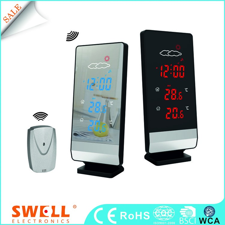 China Ce Lcd Led Calendar Outdoor Indoor Weather Station Wireless