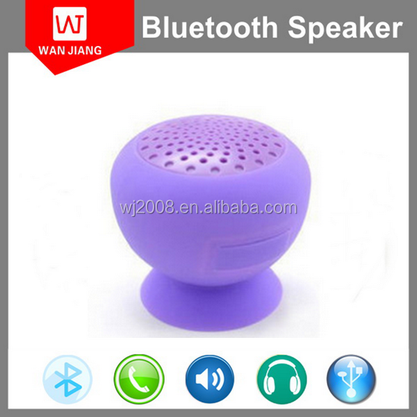 Suction-Cup Bathroom Silicon Mushroom Portable Mini Shower Waterproof Bluetooth Speaker