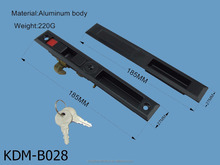 High quality aluminium door and windows lock with keys