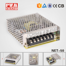 Steady CE Approved NET-50A 5V 12V -5V dc switch mode power supply 50W with hs code