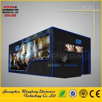 Newest Technology Business Investments Mobile 5D Cinema with Cabin, 5D Cinema Film with 3d glasses