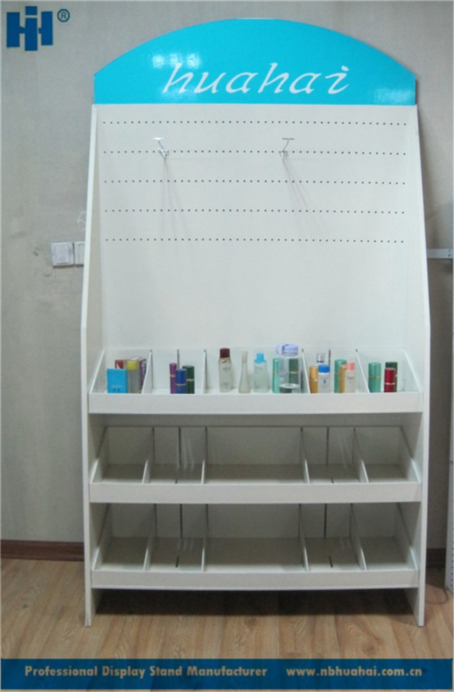retail shop wooden perfume display shelf cosmetic