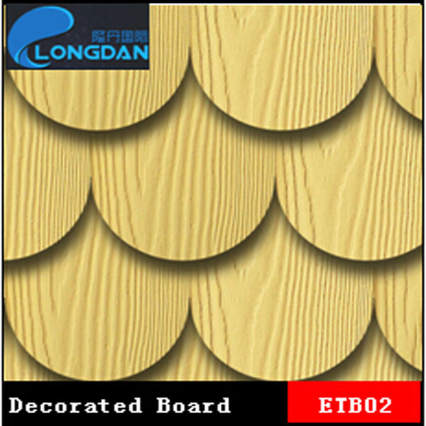 100% Asbestos Free Imitated Wood Grainy Insulation Silicate Fiber Cement Board
