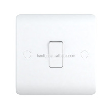 10A 1 Gang Single Pole White Urea British Standard Wall Switches