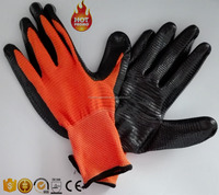 13g polyester U3 liner nitrile coated working gloves/safety glove