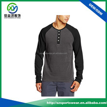 High quality 100% cotton round neck men slim fit long sleeve polo shirt