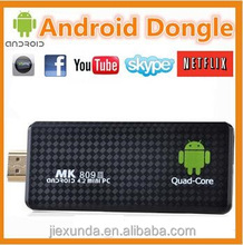 Quad Core RK3188 Google TV Box MK809III Android 4.2.2 2GB RAM 8GB ROM 1.6GHz Bluetooth Wifi Smart IPTV Display Player Dongle