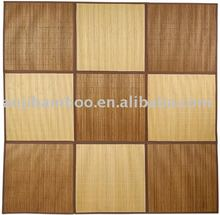 natural and carbonized color bamboo carpet