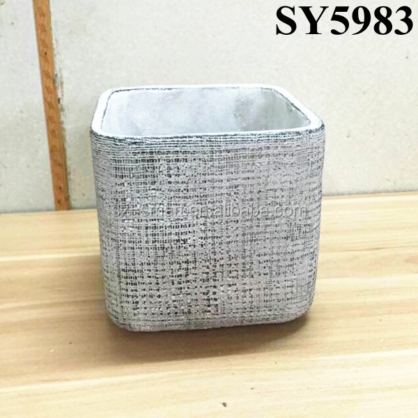 Table and indoor decorative small square cement planter box