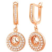 crystal beaded pendant Benz big chandelier clip-on earrings