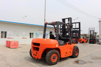 New high performance 5 to 7 ton articulated diesel forklift similar to Nissan forklift price