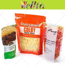 Resealable Plastic Window Doypack Bags for Ready to Eat Food Packaging