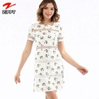 Women short sleeve floral summer casual dresses