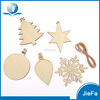 Christmas Tree, Snowflake Wood Slices Tree Log Cut Christmas Ornaments For Wood Hang Deco
