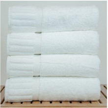 Cotton white bath towels pakistan with ribbed band