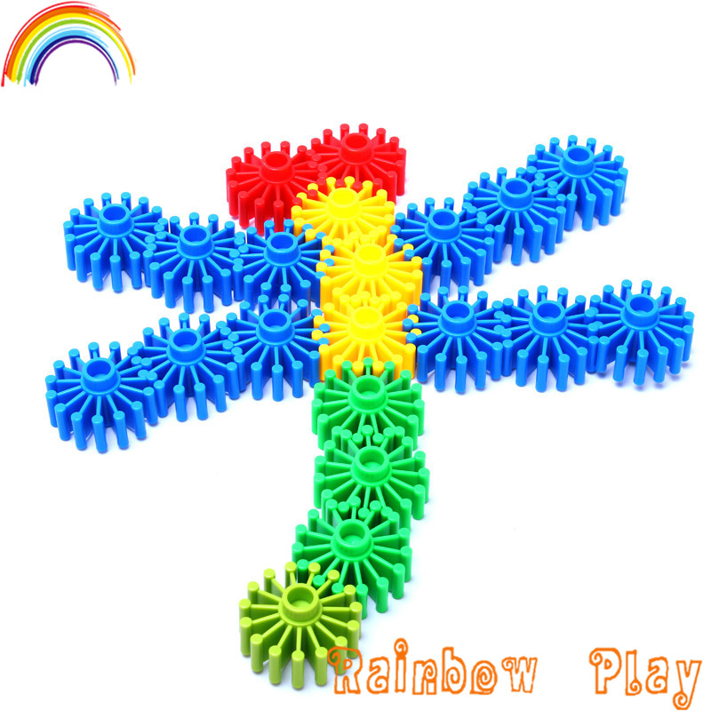 Wheel connecting intellective varable funny gear building block for kids