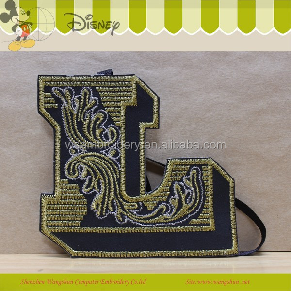 Custom Decoration Embroidery Bullion Leather Logo Badge