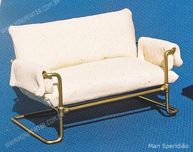 Miniature two seats sofa