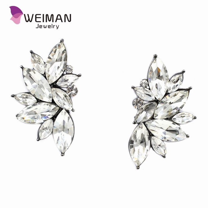 2016 new wholesale vintage design crystal earring fashion women statement stud