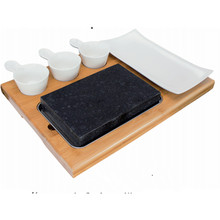 Steak Stone and Plate Set of 7,Steak On Stones Cooking Steaks Hot Rock Grill Plate,Lava Stone Steak cooking stone Set