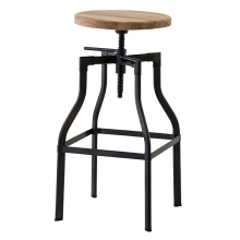 Unique adjustable height antique metal industrial bar stools