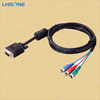 Factory price color code vga flat cable/hacer cable vga rca cable