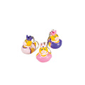 ICTI factory custom cute small princess duck keychain