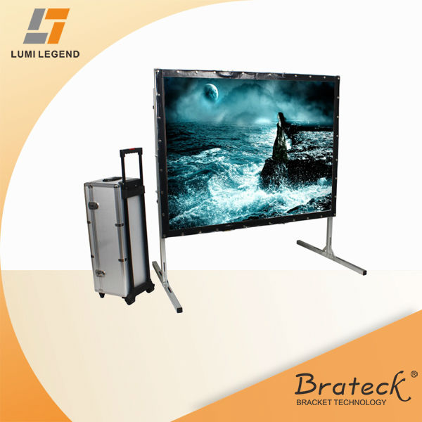 "4:3 Ratio 100"" Deluxe Fast Folding Portable Projection Screen Stand"