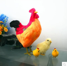 garden real simulation customized crafts feather plush chicken