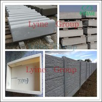 precast concrete fence panel molds for cement fencing