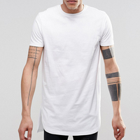 Mens White Elongated Tall Tee T