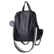 New Design Factory Wholesale Large Capacity Brown Black Teenager Girls College School Students PU Leather Backpack Bags
