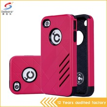 Oem Welcome Latest Design Shockproof TPU PC Back Case For Iphone 4