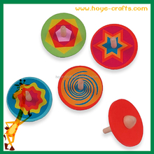 2016 kids gifts wooden painted spinning top for sale