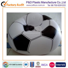 BSCI,ICTI PVC/TPU football shape inflatable round corner sofa